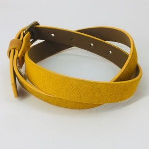 Mustard Color Faux Hair Belt